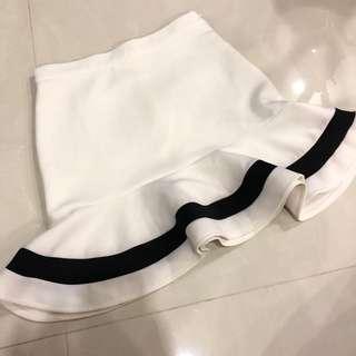 🚚 Something Borrowed White Peplum Skirt