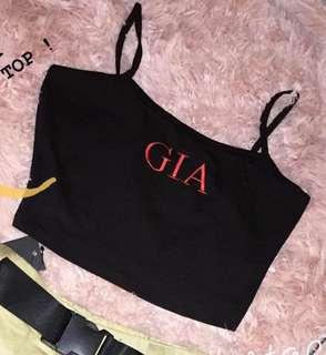 I am gia inspired tank crop top