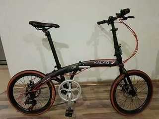 Kalaq q6 black foldable bicycle