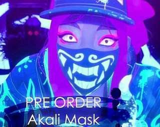 Akali glow in the dark mask