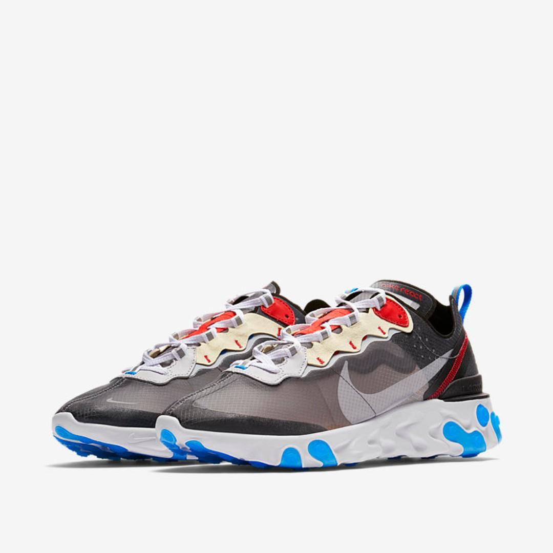 571c17b6a4b0 🔥 In Stock🔥 US10 10.5 11 12 Nike React Element 87 Dark Grey Blue ...
