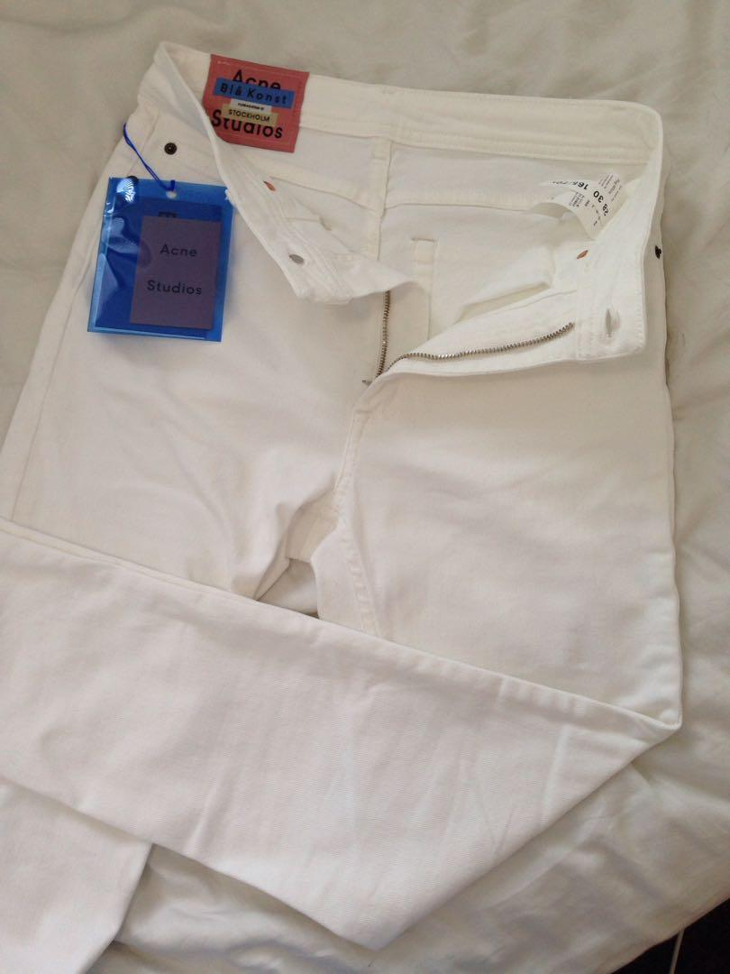 Acne Studios white high waisted jeans