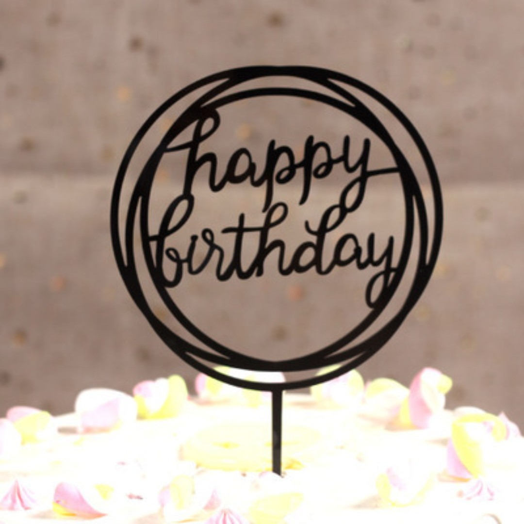 Acrylic Cake Toppers Circle