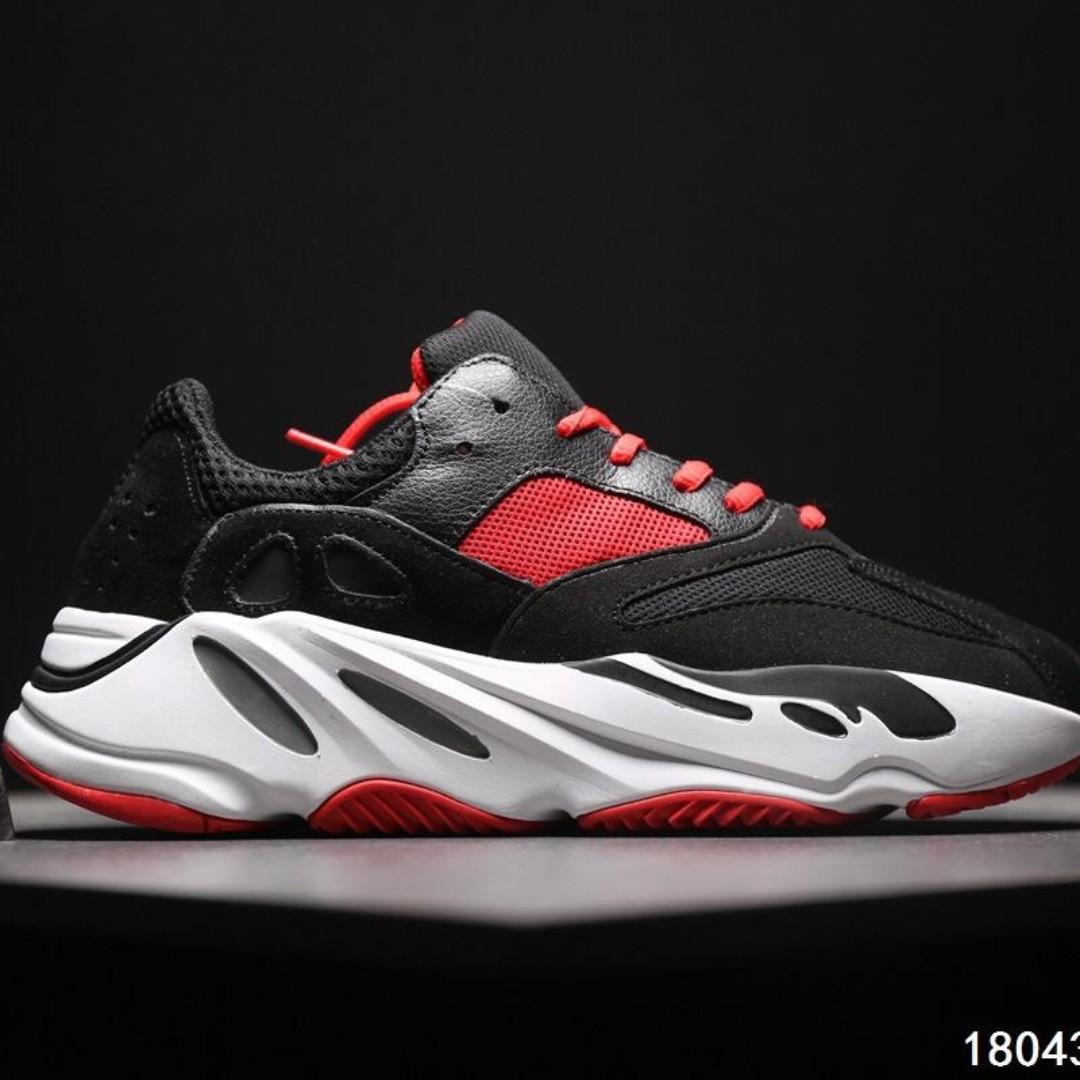 c390b590631b1 Adidas Calabasas yeezy boost 700 runner  Black Red White