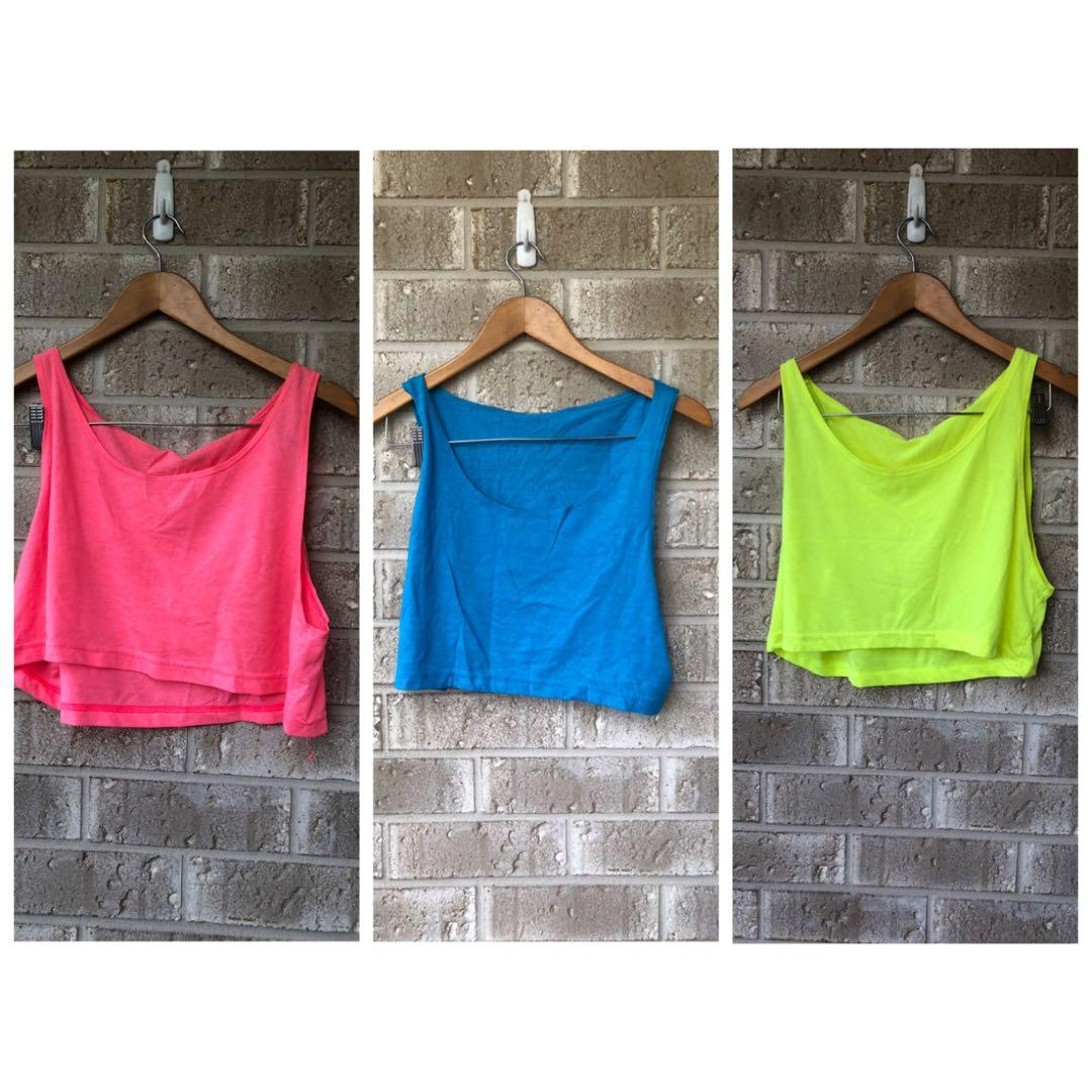 American apparel crop top bulk Neon One size