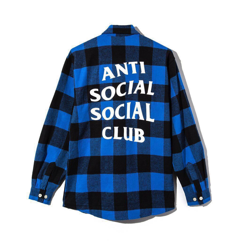 354ff4cba3c2 Anti Social Social Club PSY Red Flannel 100% Authentic ASSC Deadstock  Casual Button-Down Shirts