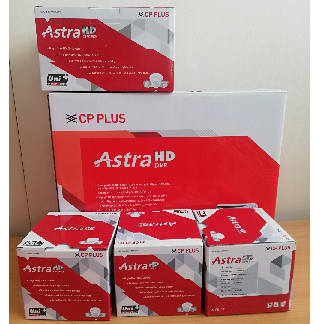 Astra CP PLUS 4 CHANNEL Complet Set CCTV
