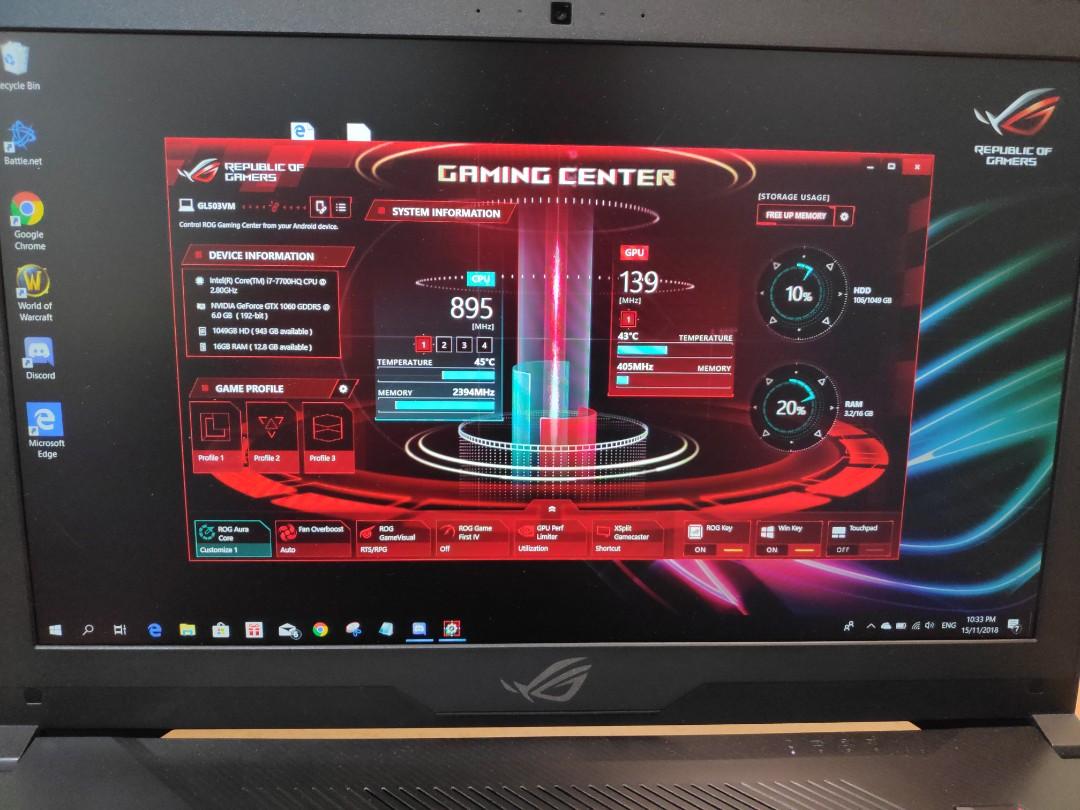 Asus Rog Gaming Center Not Working