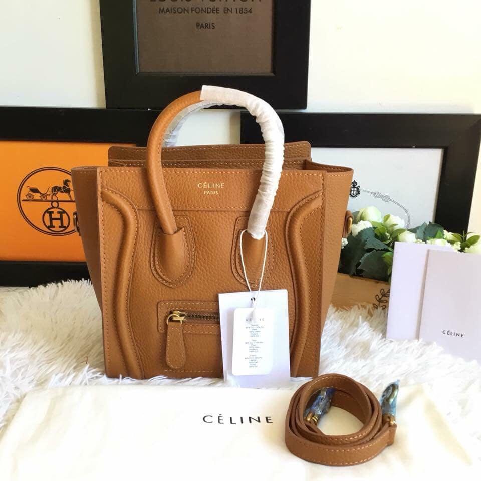 65e495a8fe Authentic Celine Paris Nano Size Luggage  Tote