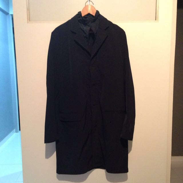 9d6c0742fae3 Authentic Nylon Overcoat By Prada, Men's Fashion, Clothes, Others on ...