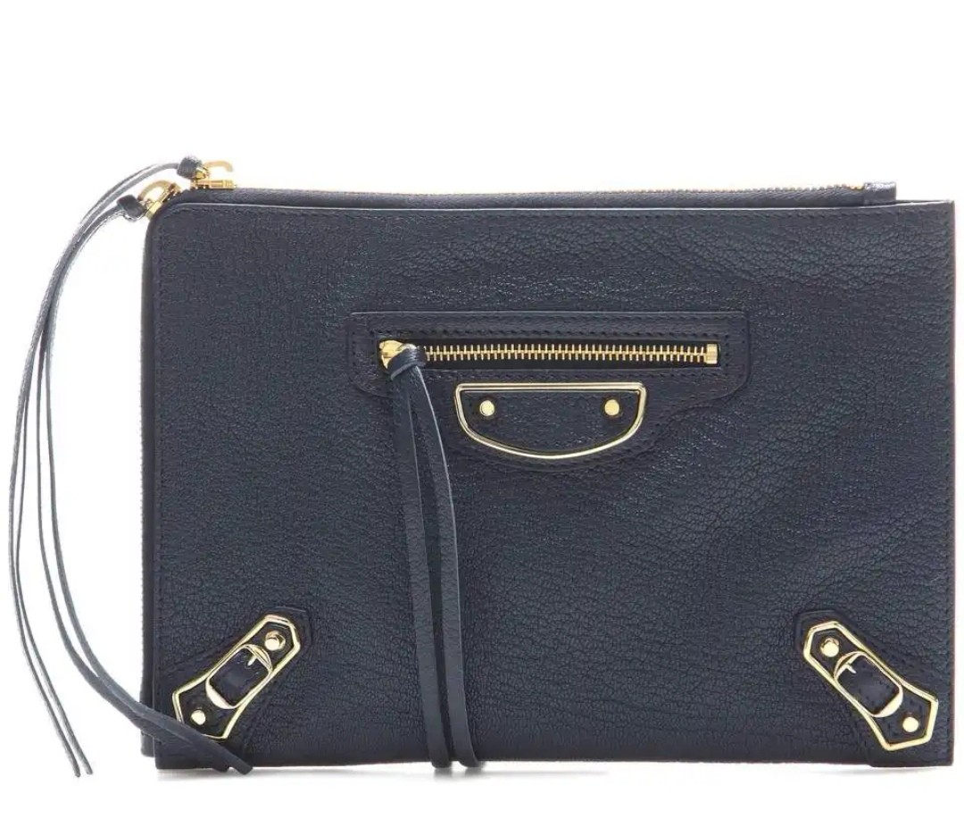 34618a29fa Balenciaga flat clutch, metallic edge pouch, Women's Fashion, Bags ...