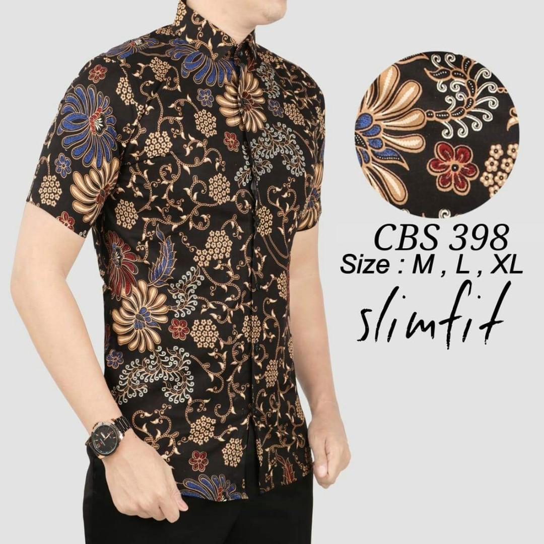 Batik Pria Fashion: BATIK PRIA SLIM FIT, Men's Fashion, Clothes, Tops On Carousell