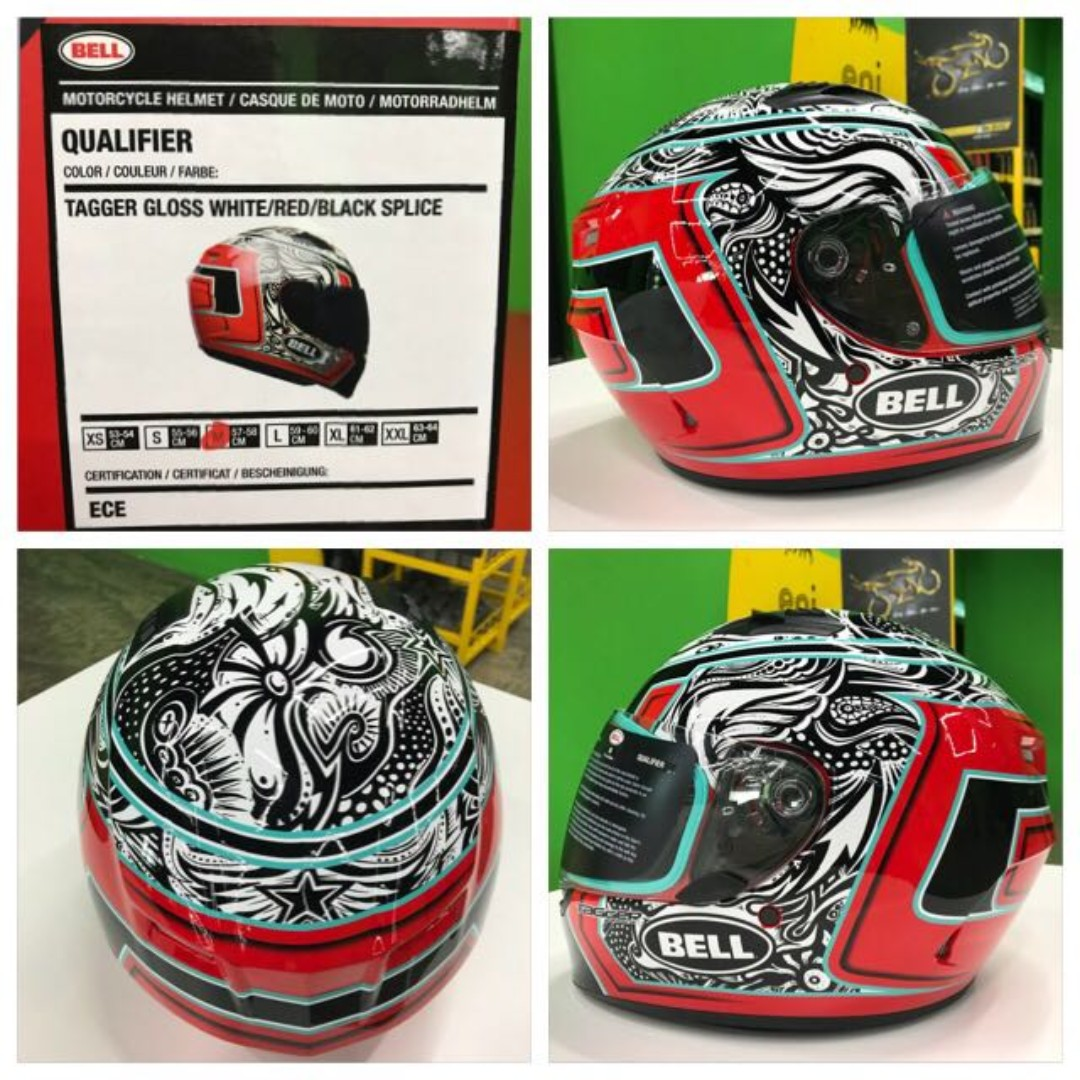Bell Qualifier Size Large Only Full Face Motorcycle Motorbike Helmet