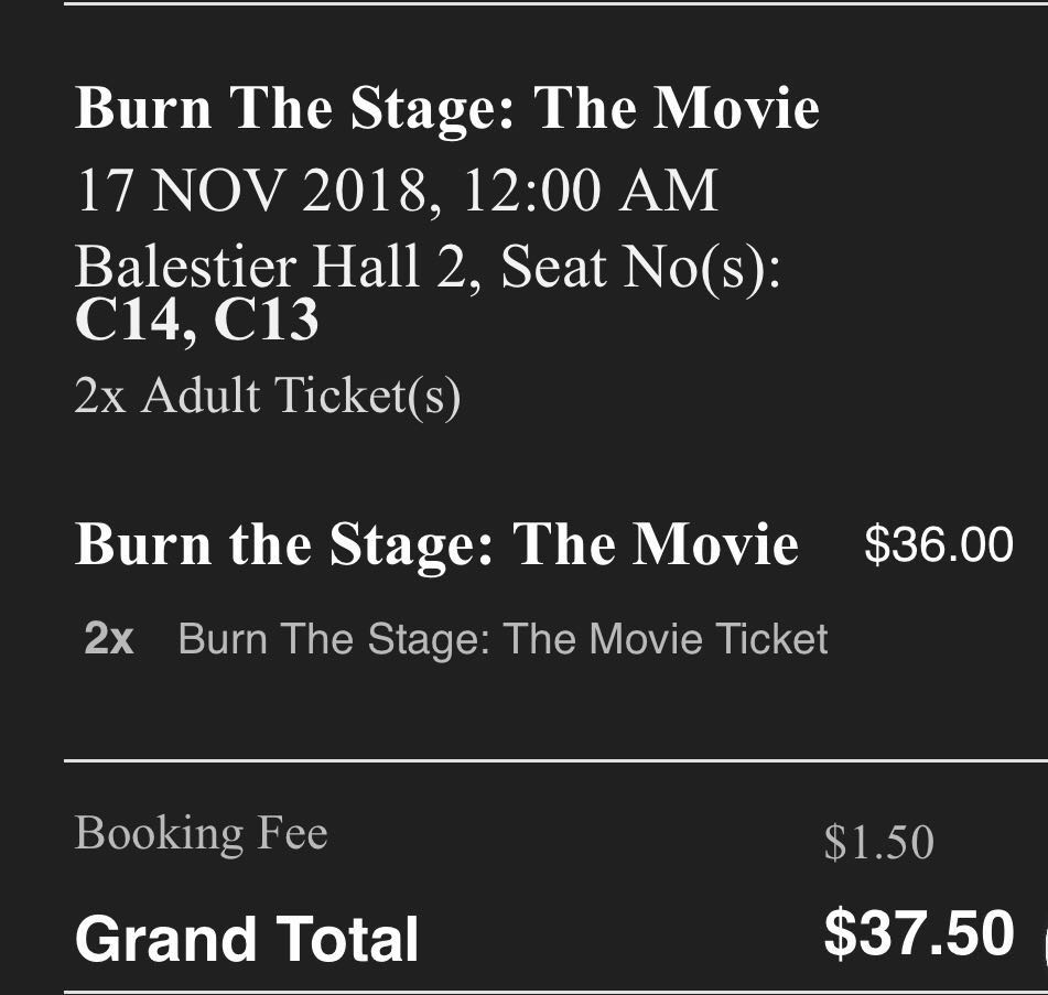 Buy-1-free-1 Burn The Stage BTS Movie Tickets (no commission & booking fee)
