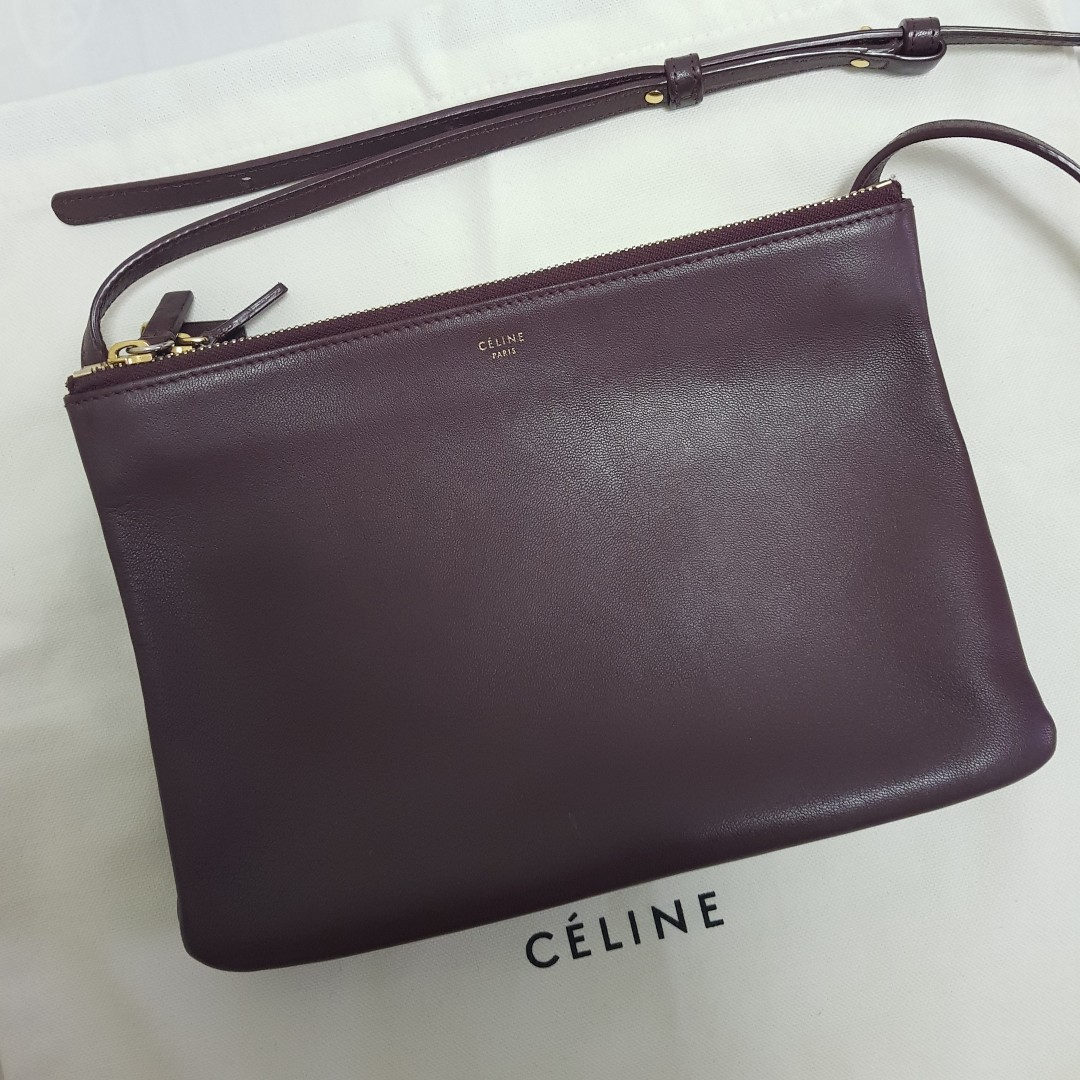 5e8b17a5bb3b Celine Trio Bag Large (Burgundy)