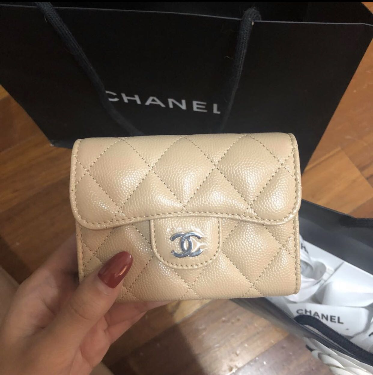 520c0e20f530e5 Chanel Card wallet, Luxury, Bags & Wallets, Wallets on Carousell