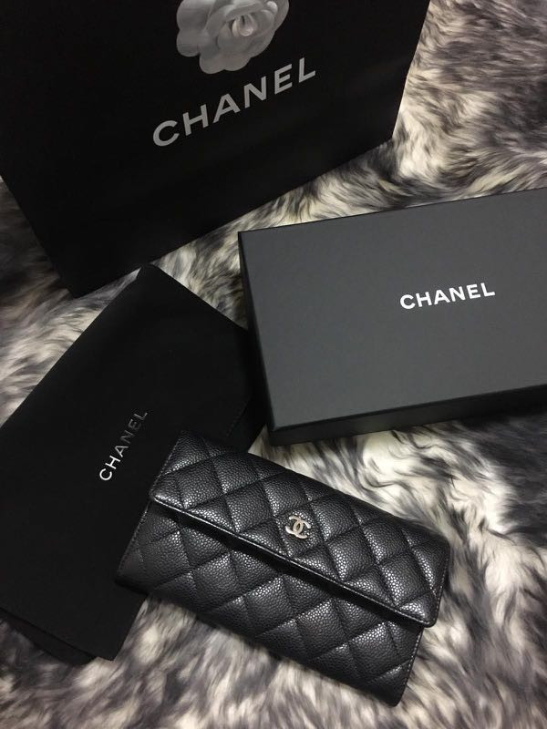 f75d2b32a589 Chanel Long wallet, Luxury, Bags & Wallets, Wallets on Carousell