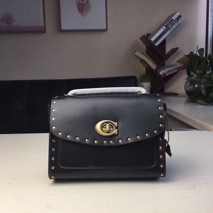 5a81800f9 COACH PARKER 18 IN SIGNATURE CANVAS WITH RIVET, Luxury, Bags ...
