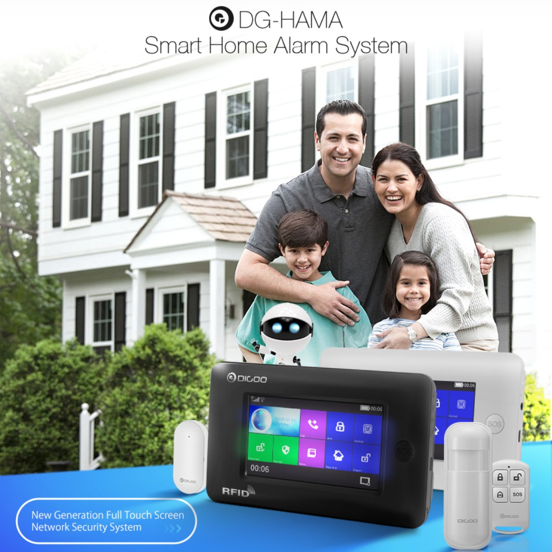 Digoo DG-HAMA - GSM&WIFI DIY Smart Home Security Alarm System Kits