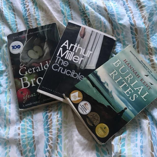 English books, the crucible year of wonders , burial rites