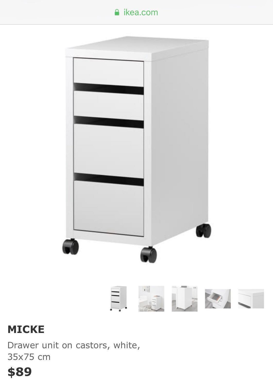 Free Delivery Bn Ikea Micke Drawer Furniture Shelves Drawers On