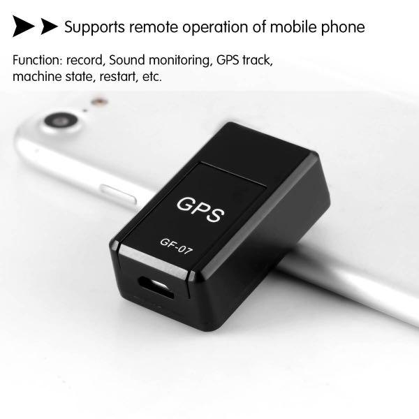 GF-07 Mini Portable Magnetic Tracking Device Enhanced GPS Locator for Vehicle/Car/Person