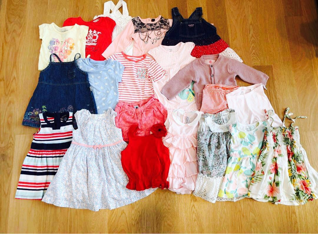 019e0e43a Girls 12m clothing bundle (carters/oshKosh/petite bateau/chateau de ...