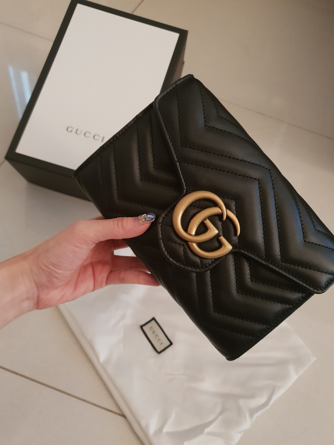 bdf71fd48 Gucci wallet on chain, Luxury, Bags & Wallets, Sling Bags on Carousell