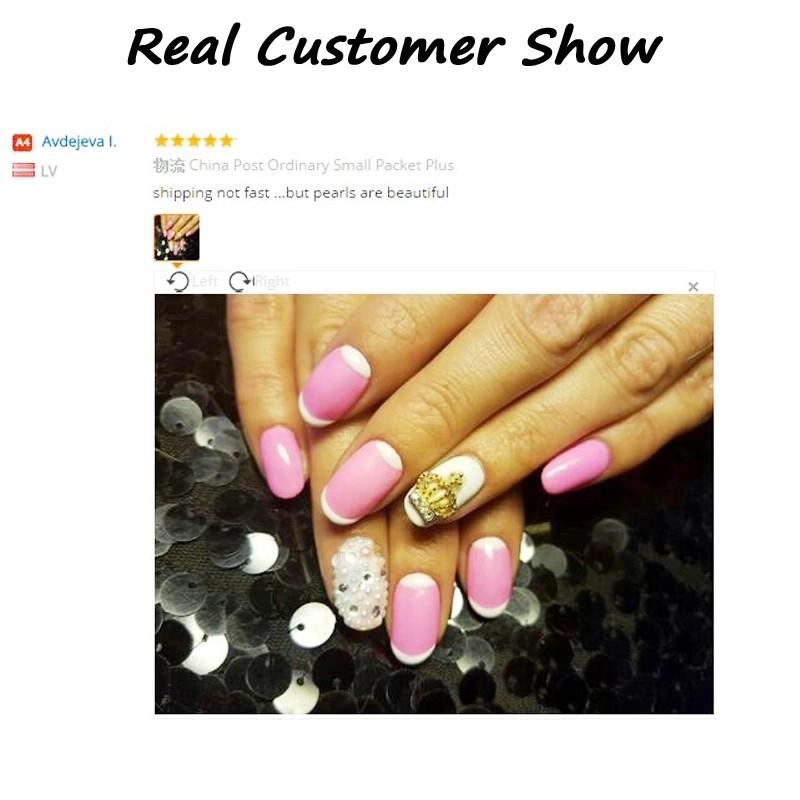 Hot 12colors Mix Sizes Pearl Nail Art Stickers Tips Decoration Wheel Glitter Nail Rhinestone Decoration Tools