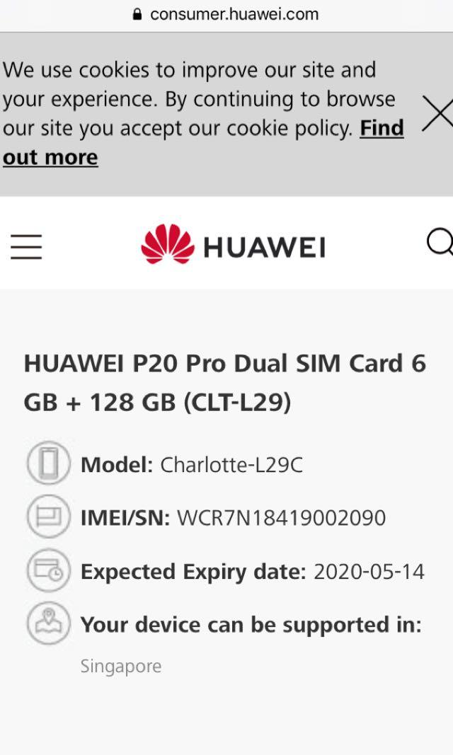Huawei P20 Pro 128gb Blue Used, Mobile Phones & Tablets