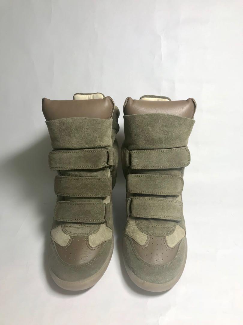 7ccf7c9f1f1b ISABEL MARANT Bekett Suede Concealed Wedge Sneakers, Luxury, Shoes ...