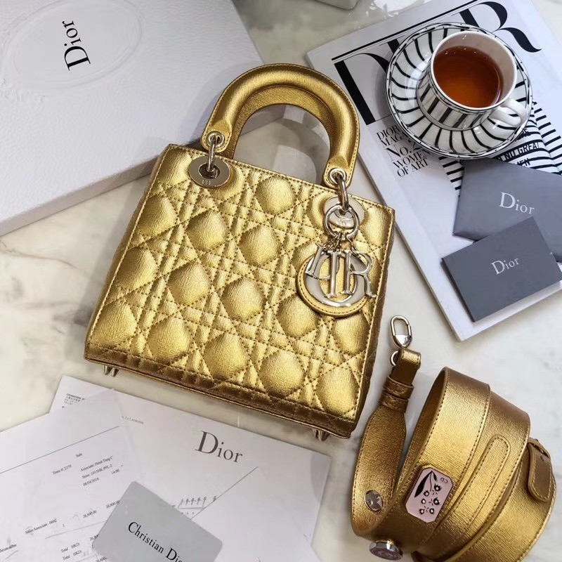 f802b798add5 Lady Dior Gold, Luxury, Bags & Wallets on Carousell