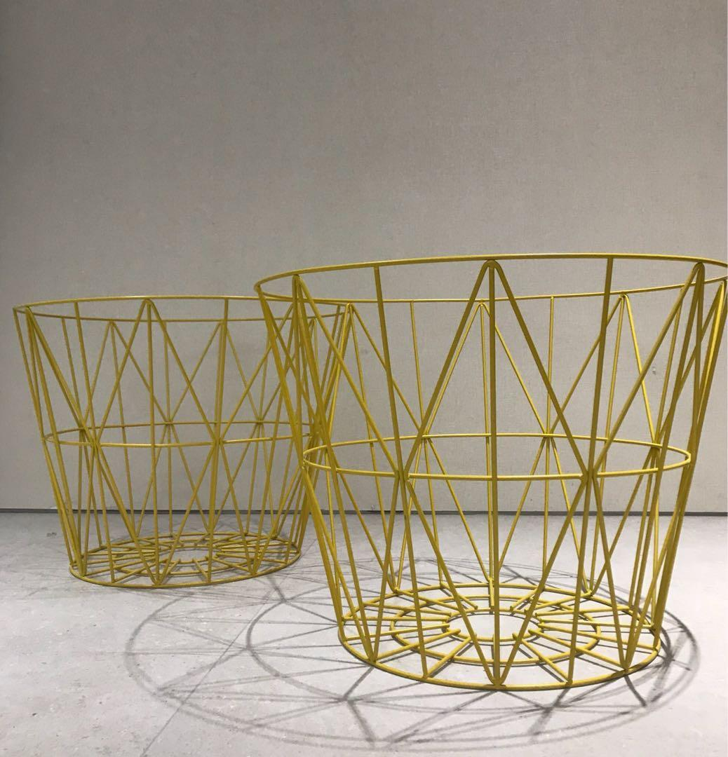 Picture of: Large Wire Basket Furniture Tables Chairs On Carousell