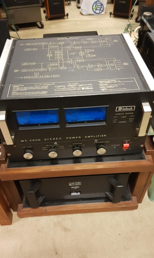 McIntosh mc 2500 power amp w volume control, Electronics
