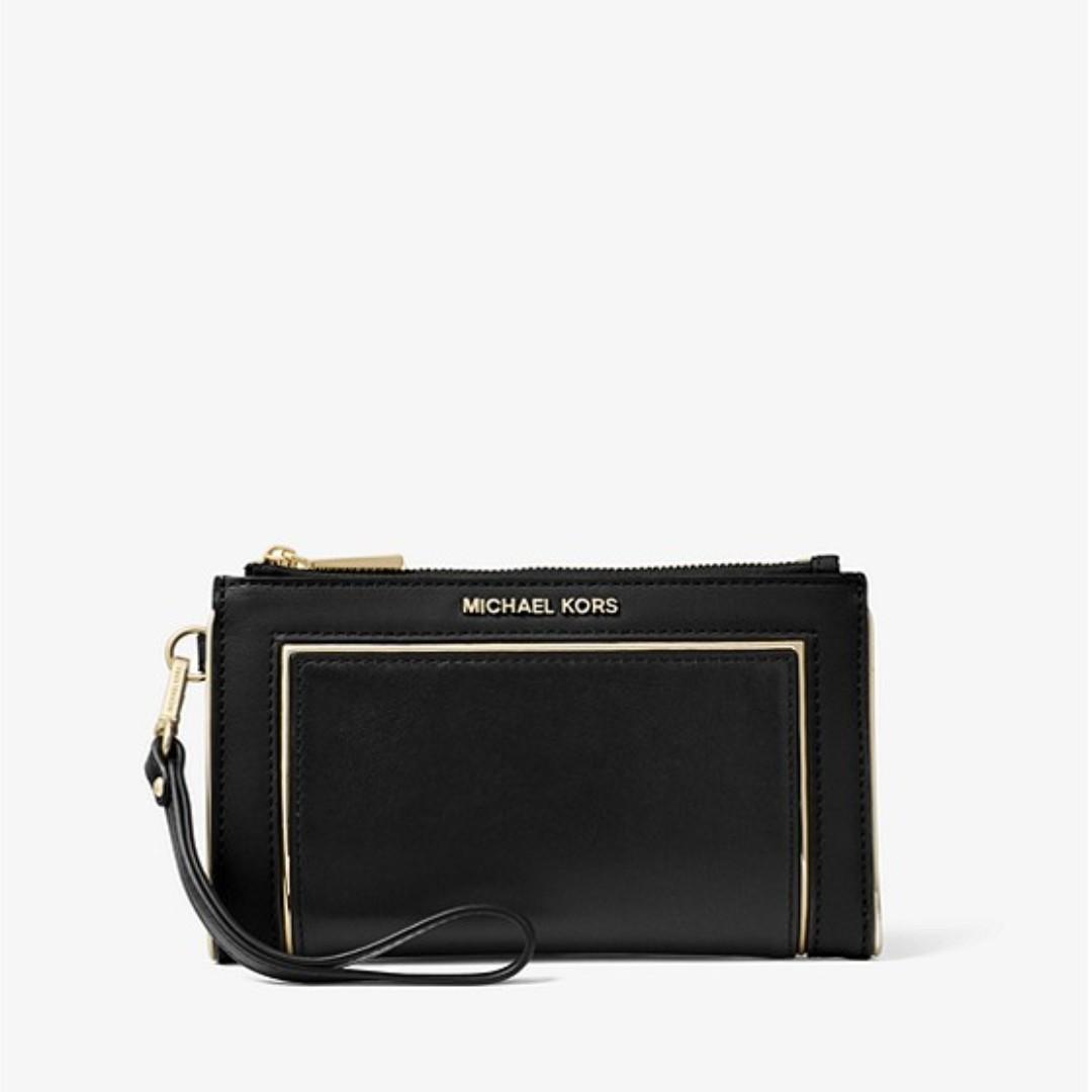 295ba9fe7496 Michael Kors Adele Framed Leather Smartphone Wallet