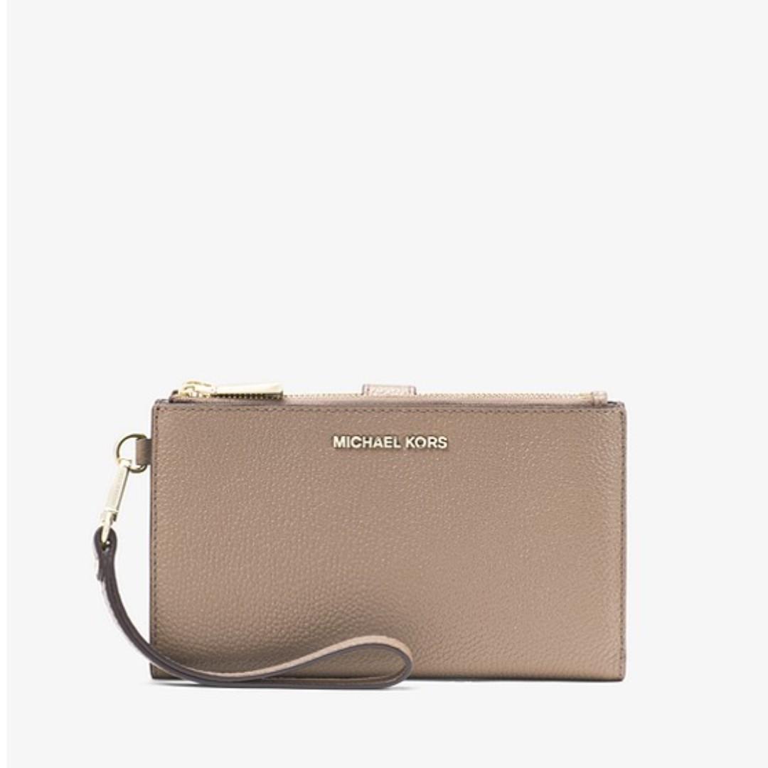 e86ae7019d6f Michael Kors Adele Pebbled Leather Smartphone Wallet, Women's ...