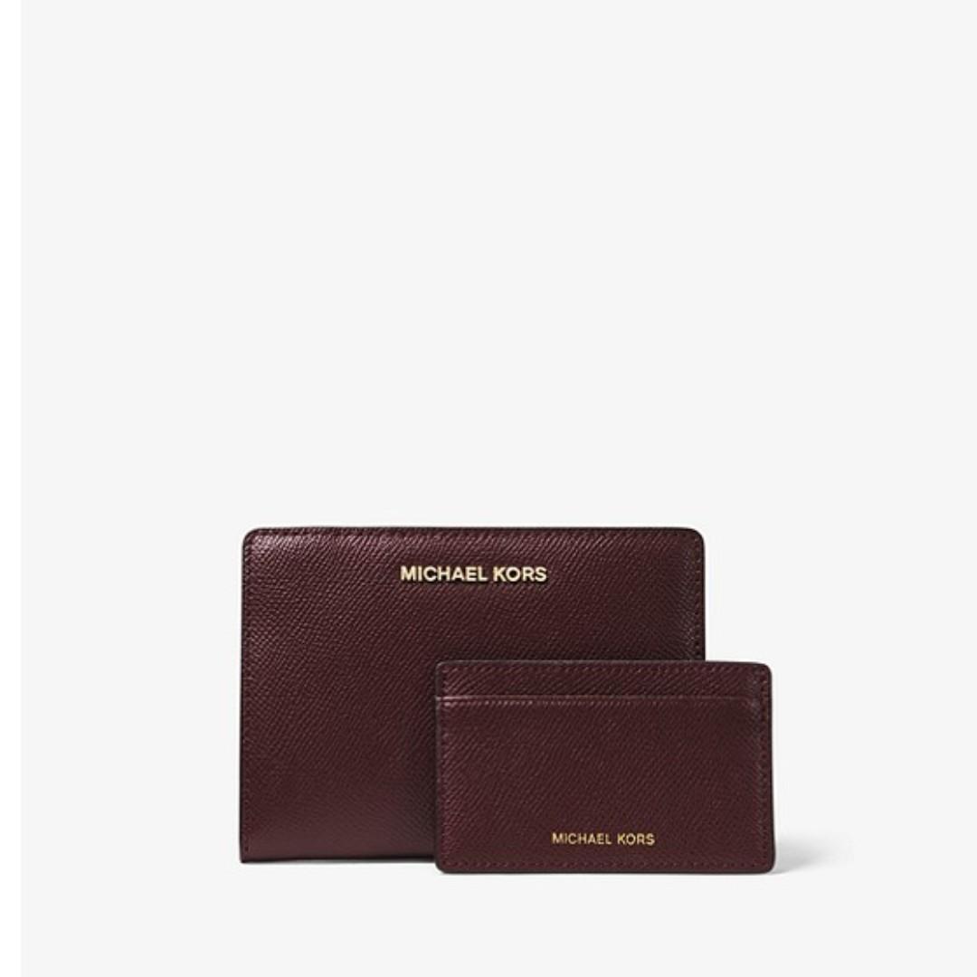 bed0b6956479 Michael Kors Medium Saffiano Leather Slim Wallet, Women's Fashion ...