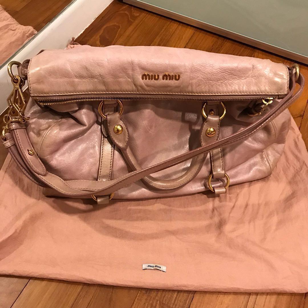 2d522cb589dd Miu Miu Bow Bag  authentic