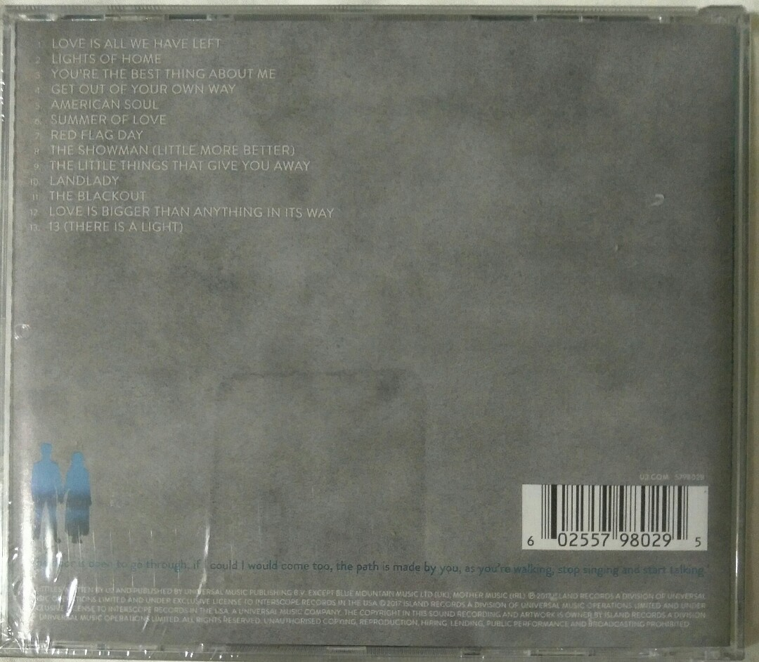 [Music Empire] U2 - Songs Of Experience CD Album