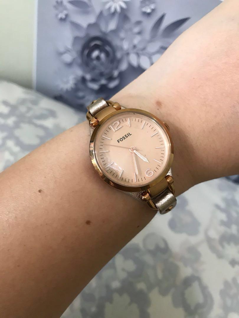 Nett price - Fossil Georgia ES3413 Rose Gold Watch ORIGINAL NO KW #mausupreme