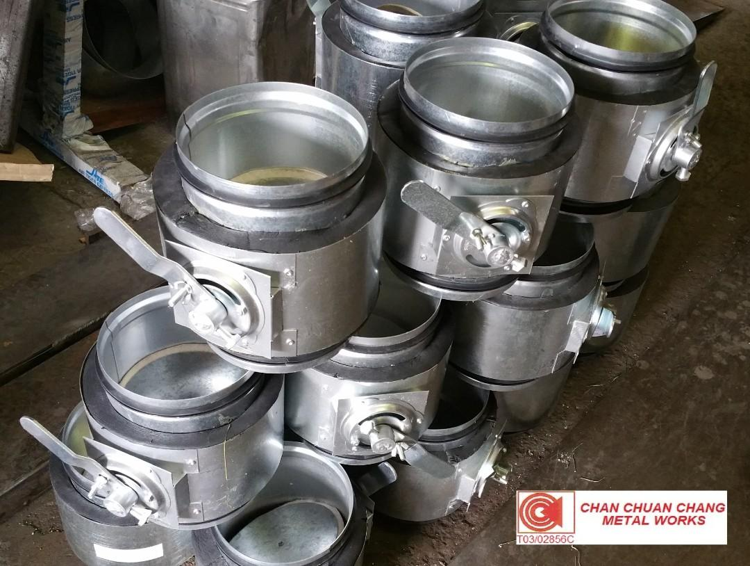 Pre Insulated Round Volume Control Damper for ACMV & HVAC (Ducting / Shiprepair / Aircon)