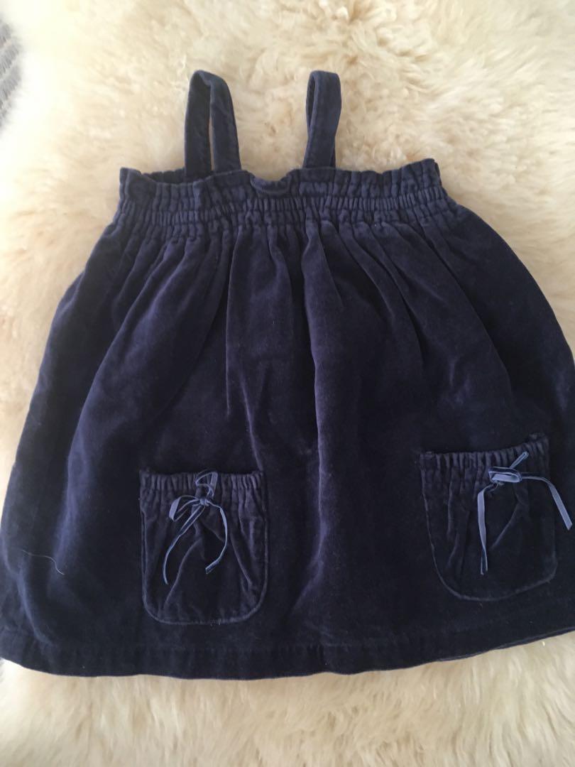 Pre Owned Seed Velvet Dress size 6-12mths