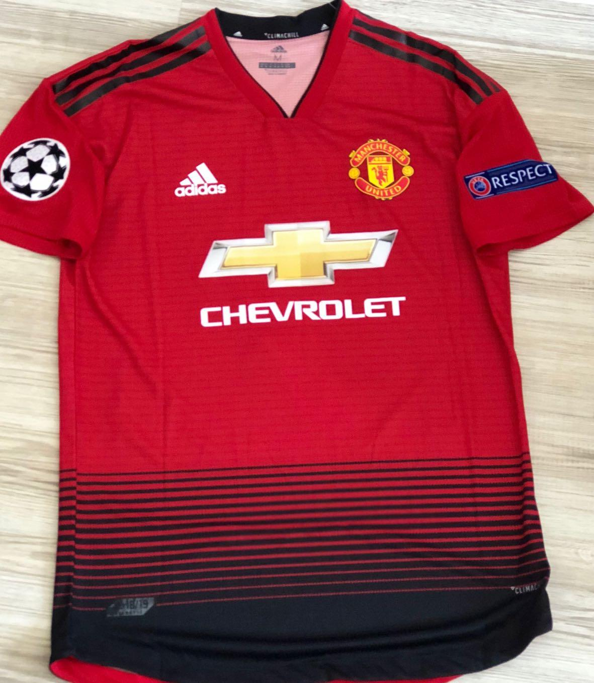 official photos 06898 f384d PROMO* 2018/2019 Manchester United home jersey Manchester ...