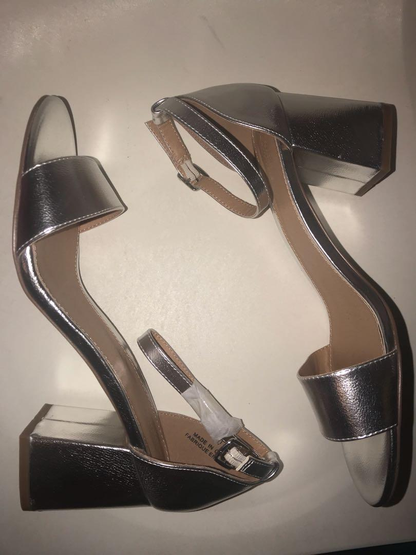 Silver sandals by Urban Outfitters