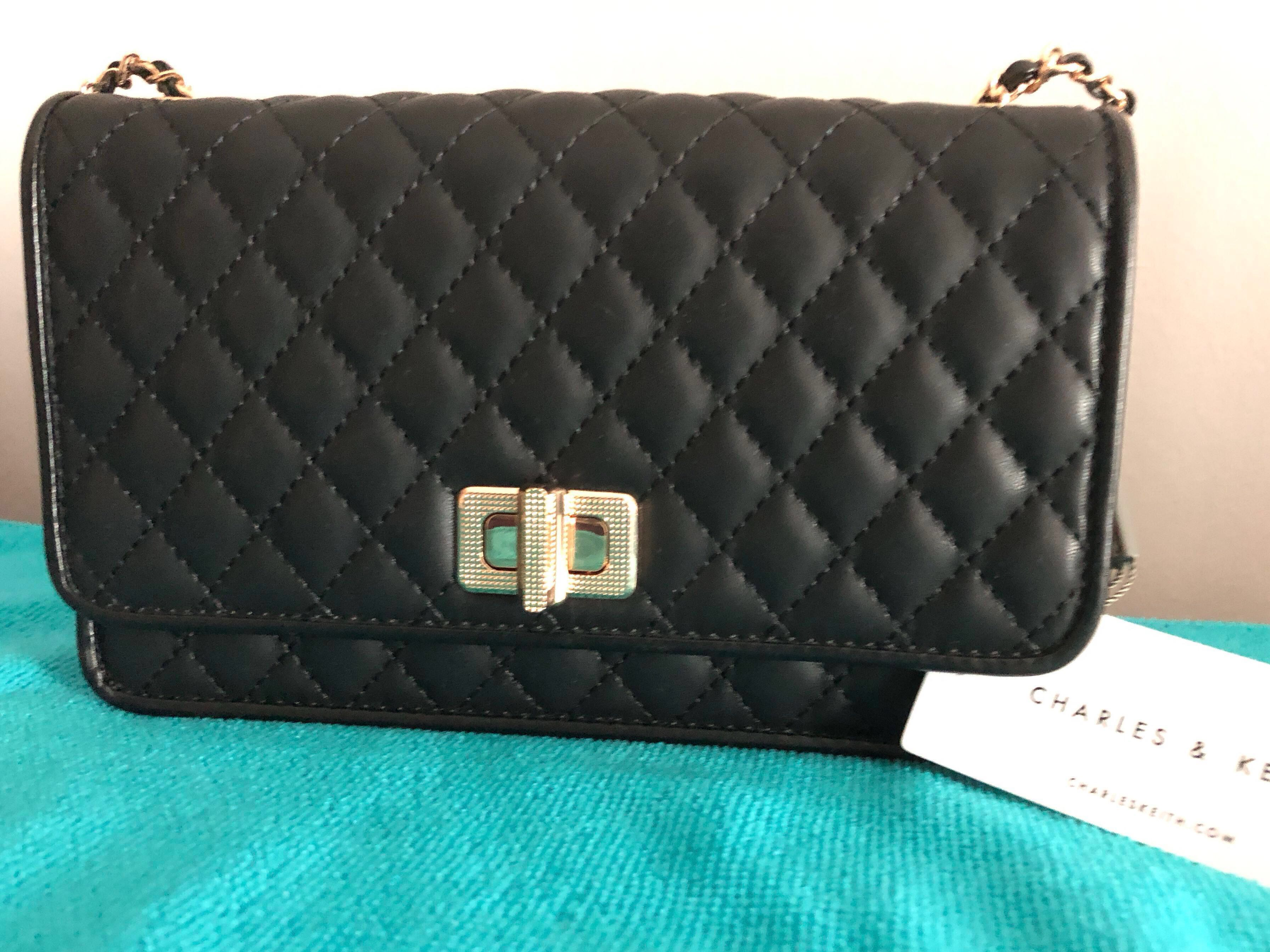 59b3ed0aa0ed Sold] Charles & Keith sling wallet on chain, Luxury, Bags & Wallets ...