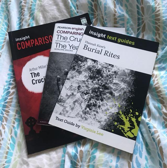 Text guides for The Crucible/Year of wonders and burial rites