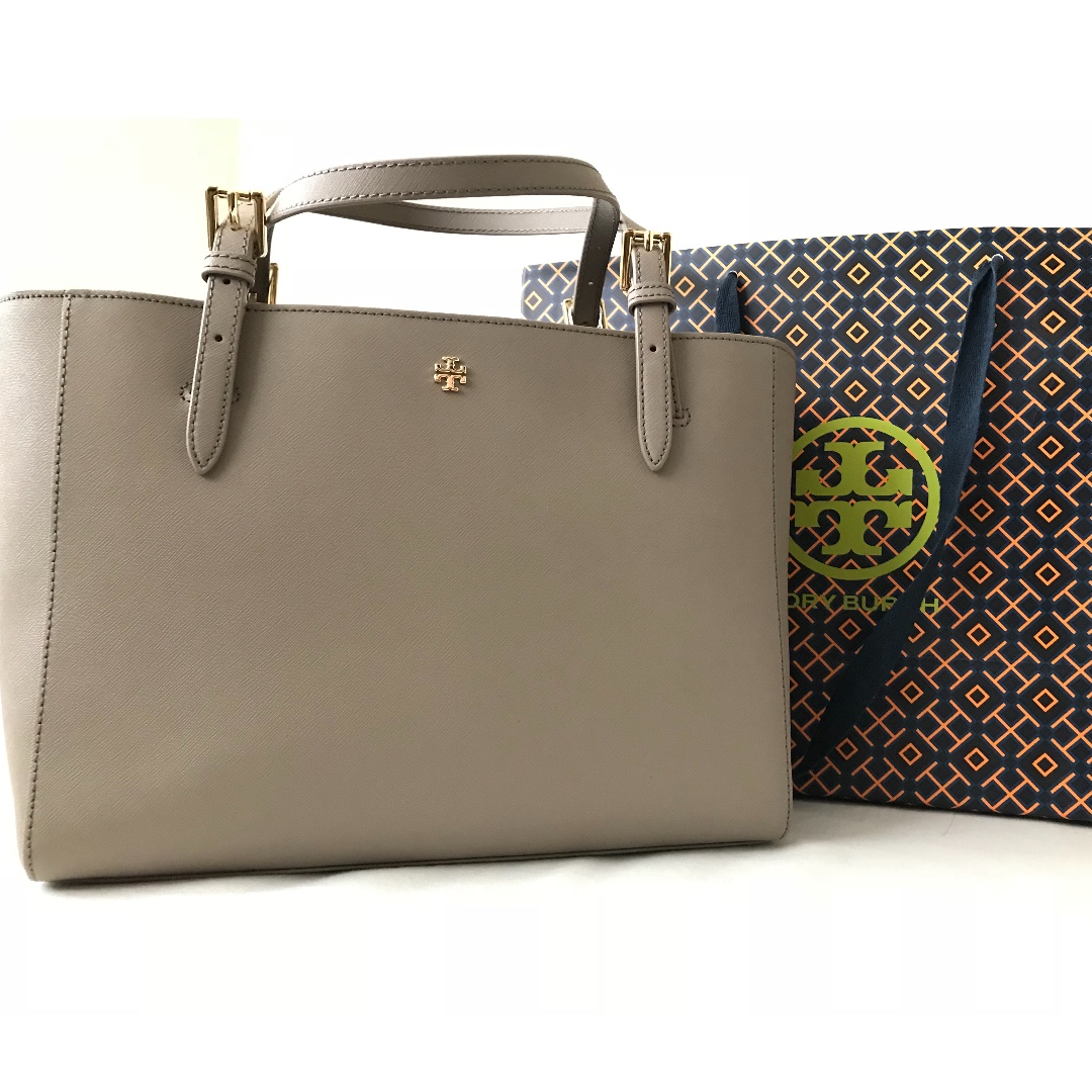 ab1d9708bd51 Tory Burch York Emerson Small Buckle Tote - French Grey(圖色,相片 ...