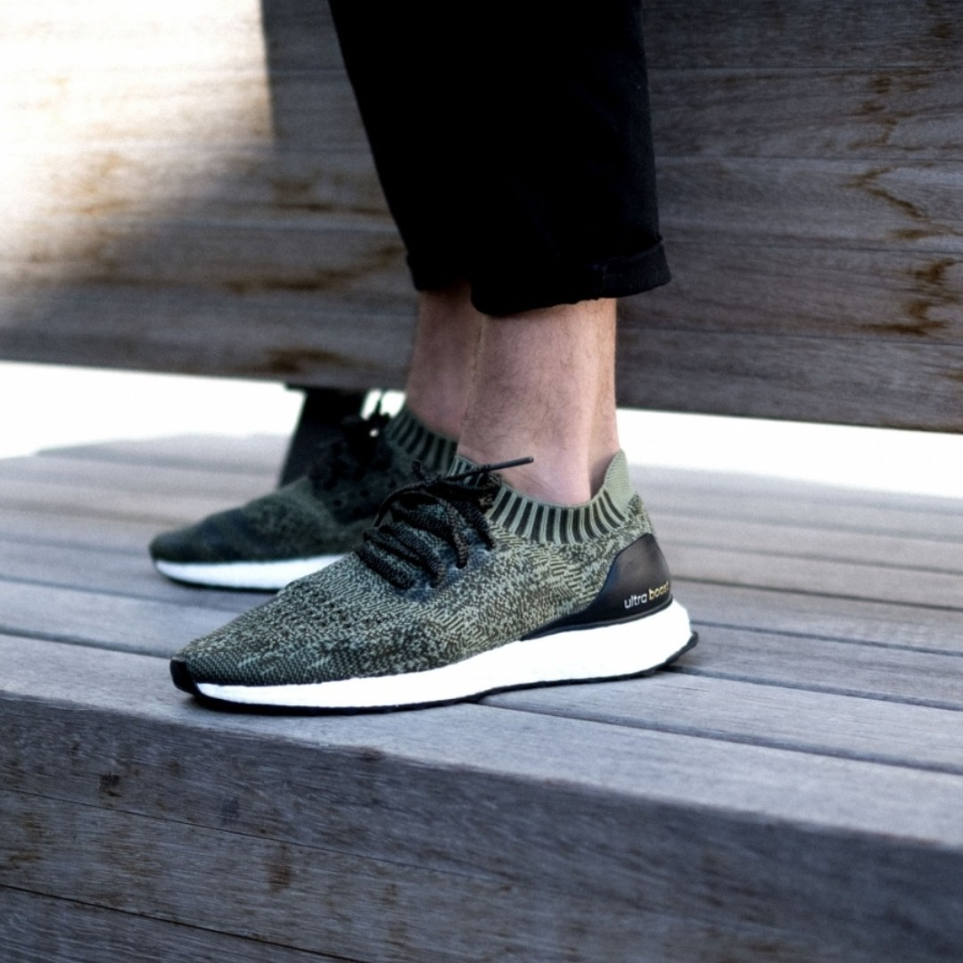 buy online a1af1 35fef UK9.5 Adidas Mens Ultra Boost Uncaged Olive Green, Men's ...