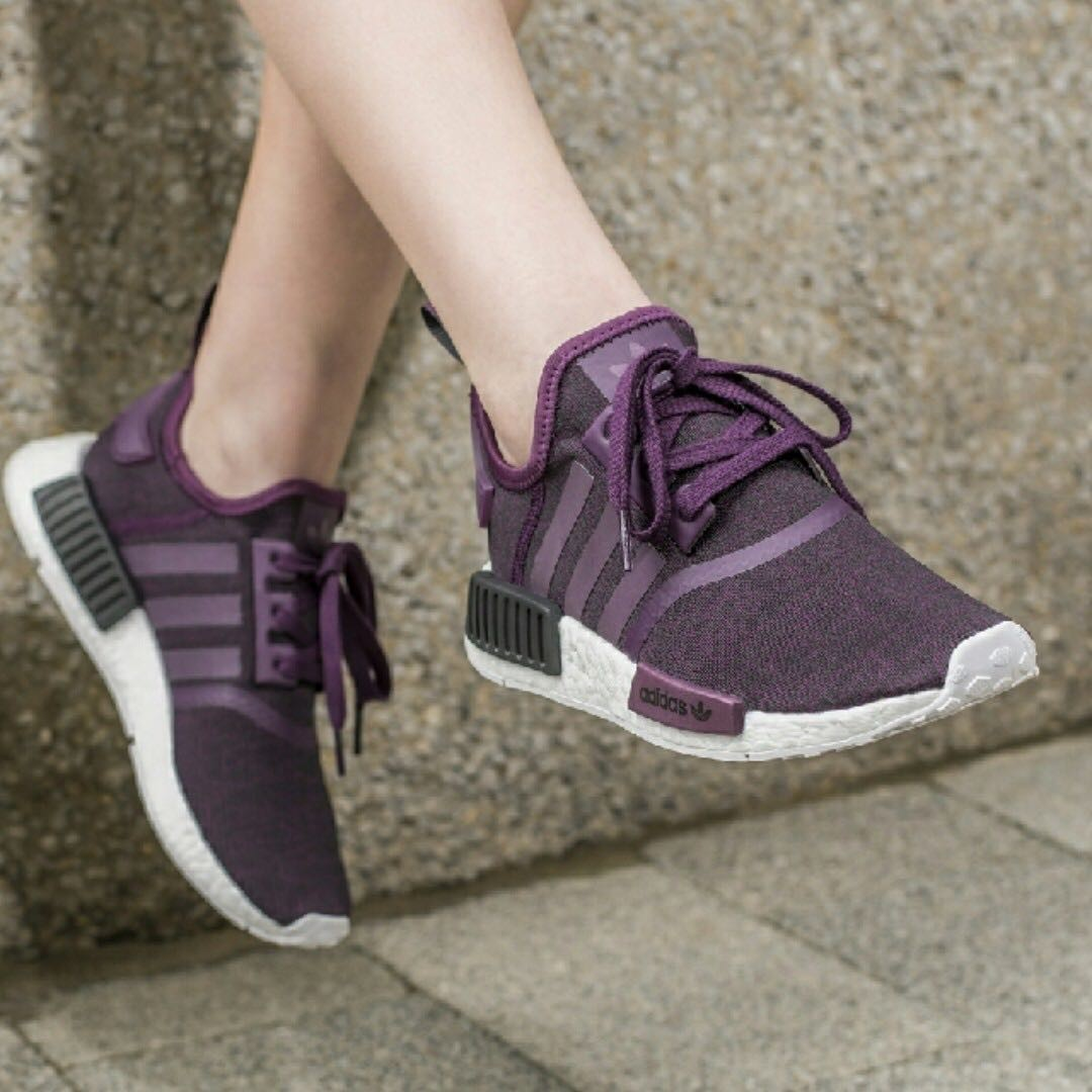 fc01d48e9 US6 Exclusive Adidas Womens NMD R1 Purple Maroon