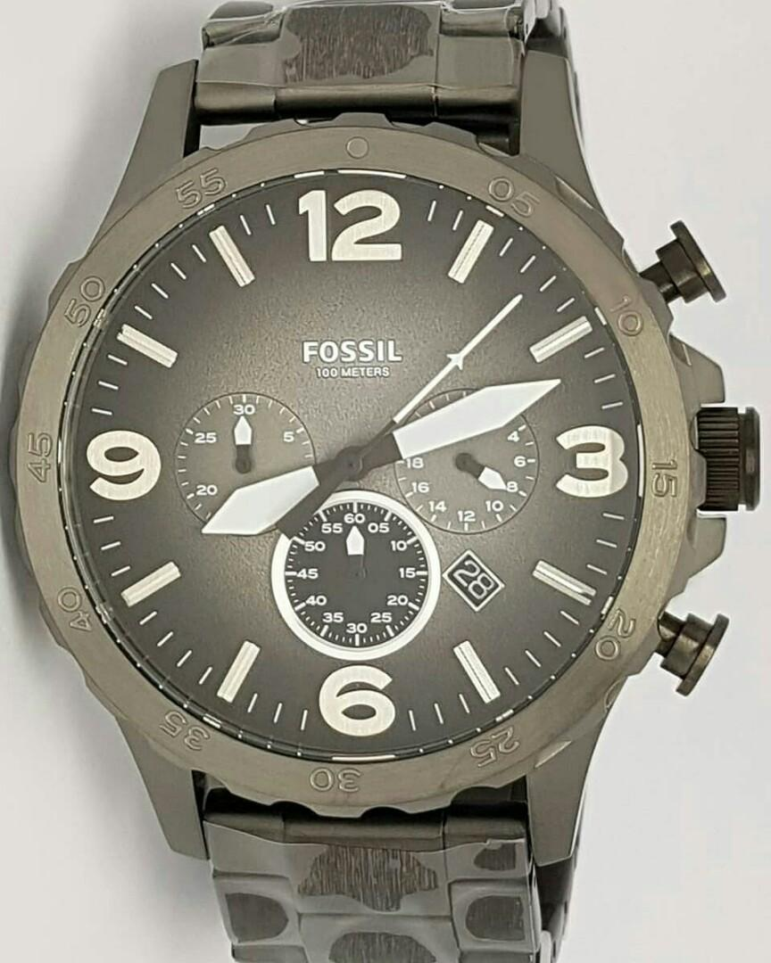 f2c6ee3bb0fd US Bought Fossil Men s JR1437 Nate Chronograph Smoke Stainless Steel Watch  on Carousell